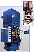 before and after of a remanufactured powdered metal press