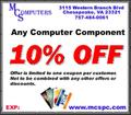 Coupon, get 10% off any computer component