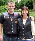 Brent and his mother in their Buffalo Nickel Vests.
