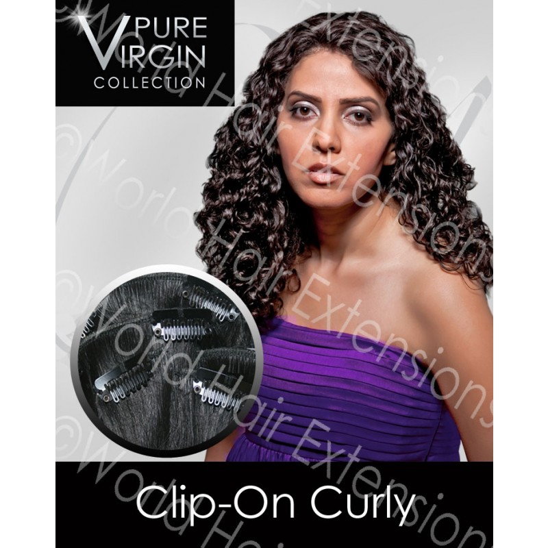 Curly Remy Virgin Indian Hair Extension Weave - 100% Remy