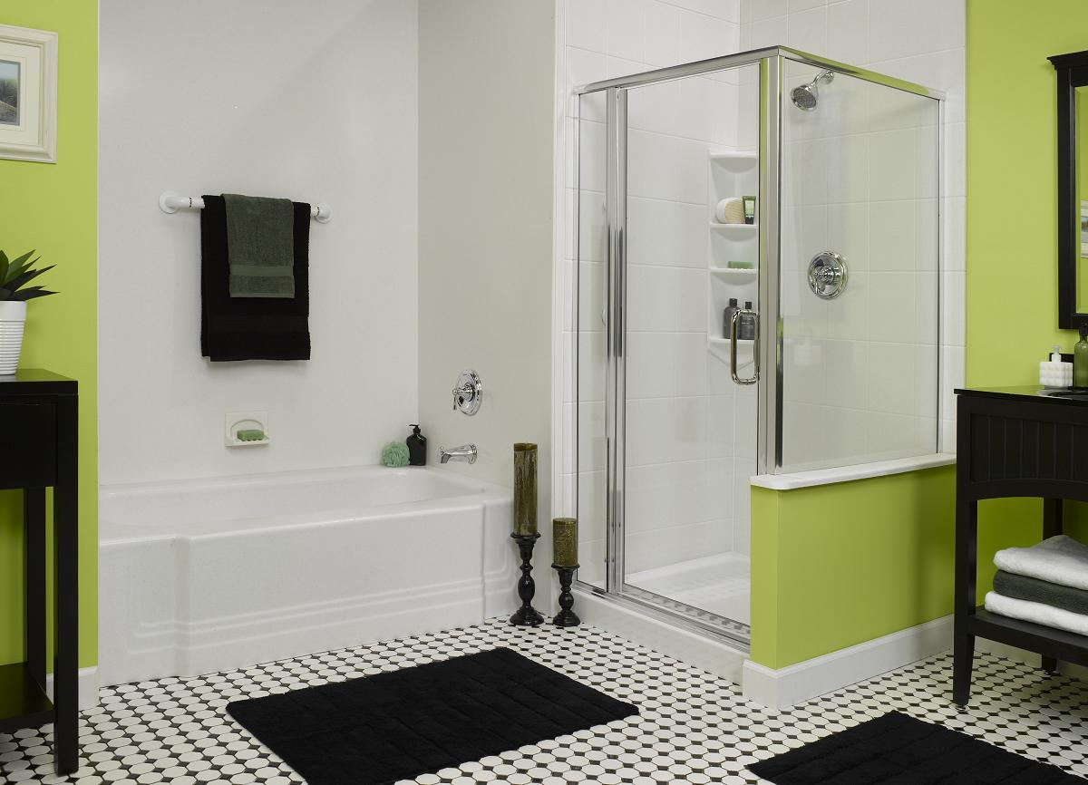 custom acrylic tub liner shower base and wall system