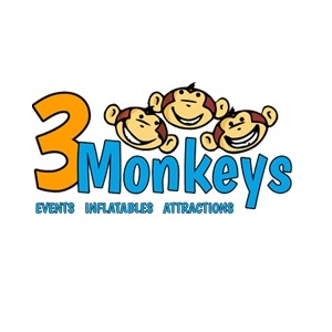 3 Monkeys Inflatables's Logo
